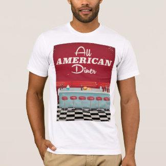 Alles amerikanisches Restaurant-Retro Plakat T-Shirt