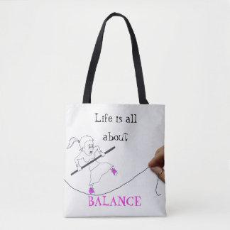 Alles das Leben ist ungefähr balance|| Gekritzel Tasche