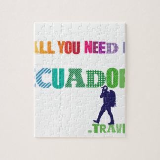 Alles, das Sie benötigen, ist Ecuador_Travel Puzzle