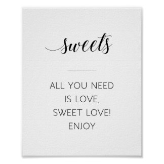 Alles, das Sie benötigen, ist Liebe-süßes Poster