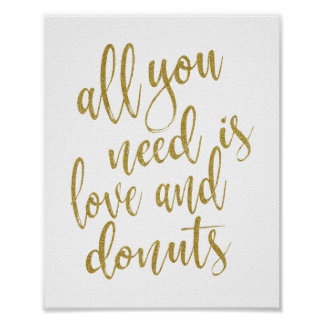 Alles, das Sie benötigen, ist Liebe und Poster