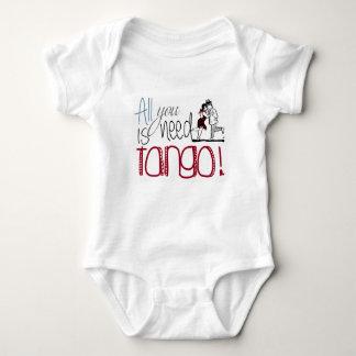 Alles, das Sie benötigen, ist Tangozitat Baby Strampler