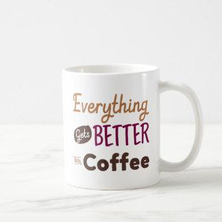 Alles erhält mit Kaffee besser Tasse