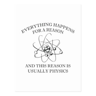 Alles geschieht aus einem Grund Postkarte