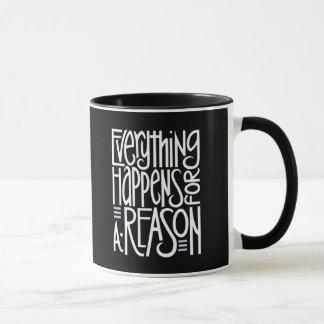 Alles geschieht weiße Tasse