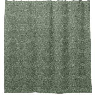 alles grüne flippige Muster Duschvorhang