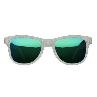 alles grüne flippige Muster Sonnenbrille