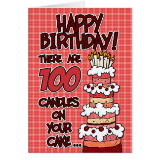 Alles Gute zum Geburtstag - 100 Jahre alt Karte