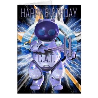Alles Gute zum Geburtstag 11., Roboter-Katze, Karten