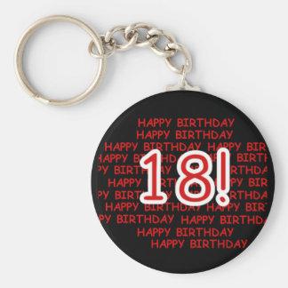 Alles Gute zum Geburtstag 18 Schlüsselanhänger