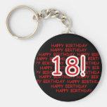 Alles Gute zum Geburtstag 18 Standard Runder Schlüsselanhänger