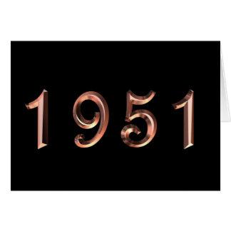 Alles Gute zum Geburtstag 1951 Geburtsjahr Grußkarte