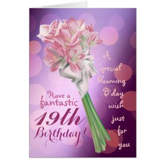 Alles Gute zum Geburtstag! - 19. rosa Blumen Karte