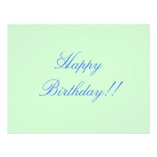 Alles Gute zum Geburtstag!! 21,6 X 27,9 Cm Flyer