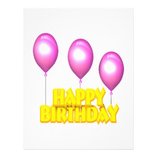 Alles Gute zum Geburtstag 21,6 X 27,9 Cm Flyer