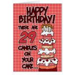 Alles Gute zum Geburtstag - 29 Jahre alt Karte