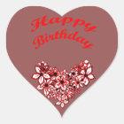 Alles Gute zum Geburtstag 2 Herz-Aufkleber