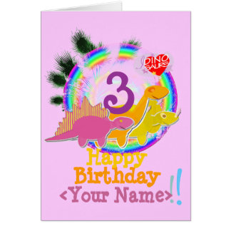 Alles Gute zum Geburtstag 3 Jahre, Ihre Karte
