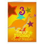 Alles Gute zum Geburtstag 3 Jahre Ihre Namensdinos