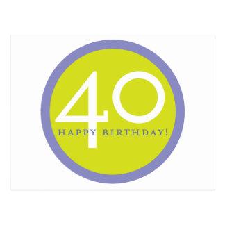 Alles Gute zum Geburtstag, 40! Postkarten