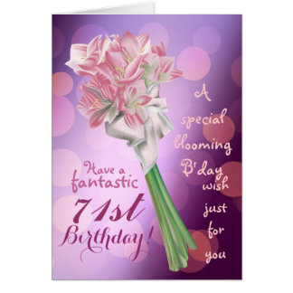 Alles Gute zum Geburtstag! - 71. rosa Blumen Karte