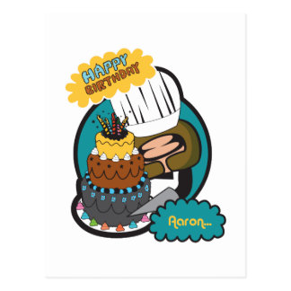alles Gute zum Geburtstag Aaron Postkarte