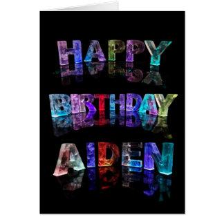 Alles Gute zum Geburtstag Aiden Karte