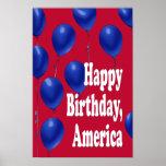 Alles Gute zum Geburtstag, Amerika-Druck Plakate