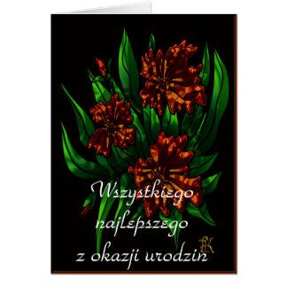 Alles Gute zum Geburtstag auf Polnisch Karte