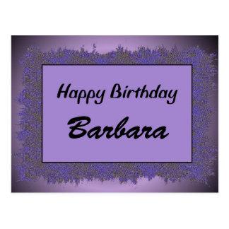 Alles Gute zum Geburtstag Barbara Postkarte
