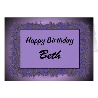 Alles Gute zum Geburtstag Beth Karte