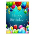 Alles Gute zum Geburtstag - Blau farbige Ballone - Karte