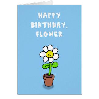 Alles Gute zum Geburtstag, Blume Karte