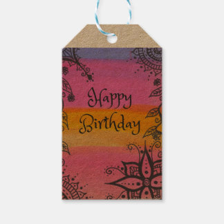Alles Gute zum Geburtstag boho Geschenkumbauten, Geschenkanhänger