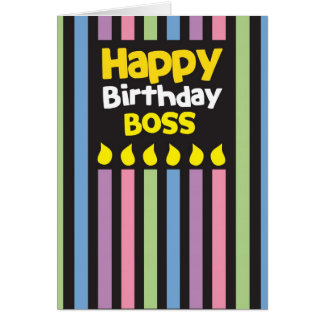 Alles Gute zum Geburtstag CHEF! Grußkarte