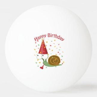 Alles Gute zum Geburtstag! Confetti-Schnecke Tischtennis Ball