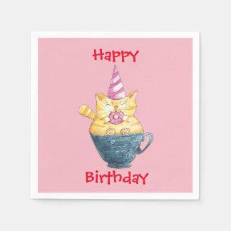 Alles Gute zum Geburtstag der personalisierten Papierserviette