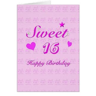 Alles Gute zum Geburtstag des Bonbon-16 Grußkarte
