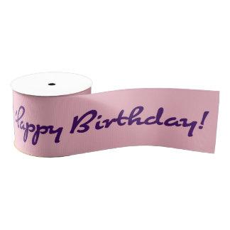 Alles Gute zum Geburtstag! Dunkles lila lässiges Ripsband