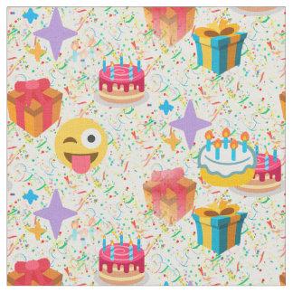alles Gute zum Geburtstag emoji Gewebe Stoff