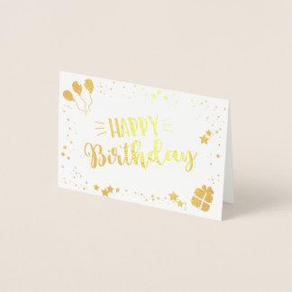 Alles Gute zum Geburtstag Folienkarte