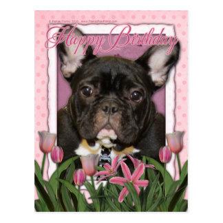 Alles Gute zum Geburtstag - französische Bulldogge Postkarten