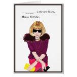 Alles Gute zum Geburtstag für den Fashionista Karte