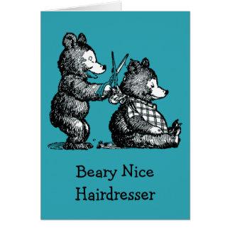 Alles Gute zum Geburtstag für Friseur Karte