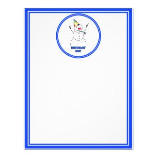 Alles Gute zum Geburtstag für Jungen (blaue 21,6 X 27,9 Cm Flyer