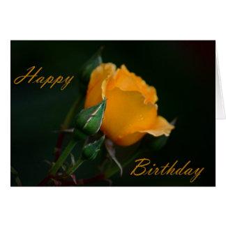 Alles Gute zum Geburtstag - gelbe Rose Grußkarte