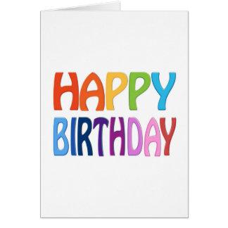 Alles Gute zum Geburtstag - glücklicher bunter Gru