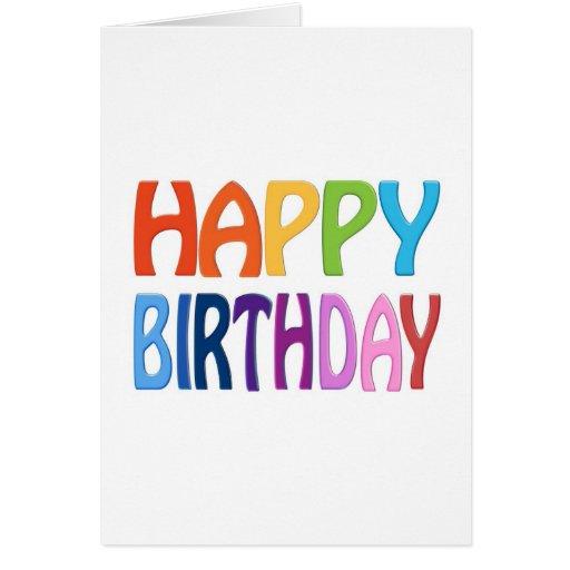 Alles Gute zum Geburtstag - glücklicher bunter Gru Karten