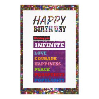 Alles Gute zum Geburtstag HappyBirthday Briefpapier
