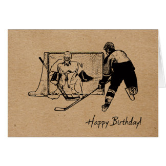 Alles Gute zum Geburtstag! Hockey-Karte - Mann Karte
